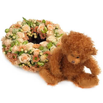 Butterscotch Centerpiece Teddy Giftset