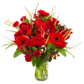 Red Christmas- Red Christmas Bouquet - Florist's D