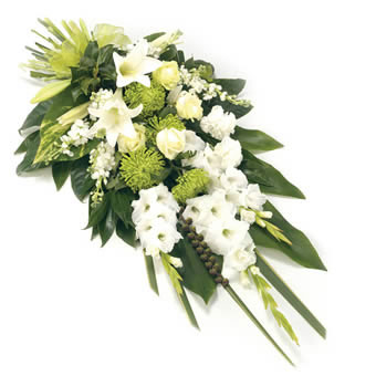 Funeral Sheaf in White Colors