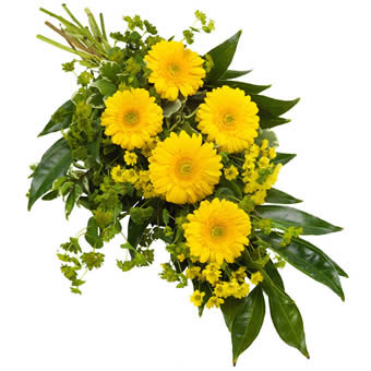 Funeral sheaf in yellow colours