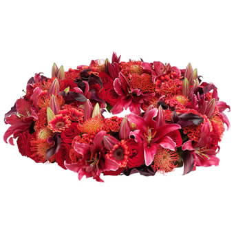 Paradise funeral wreath