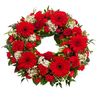 Lovely funeral wreath