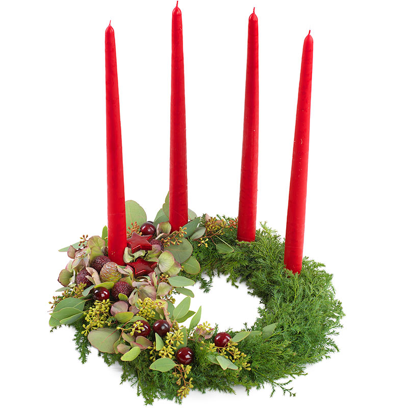 Adventskrans rød