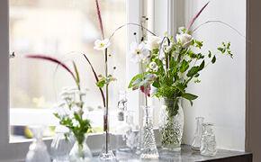 Blomster i vindu